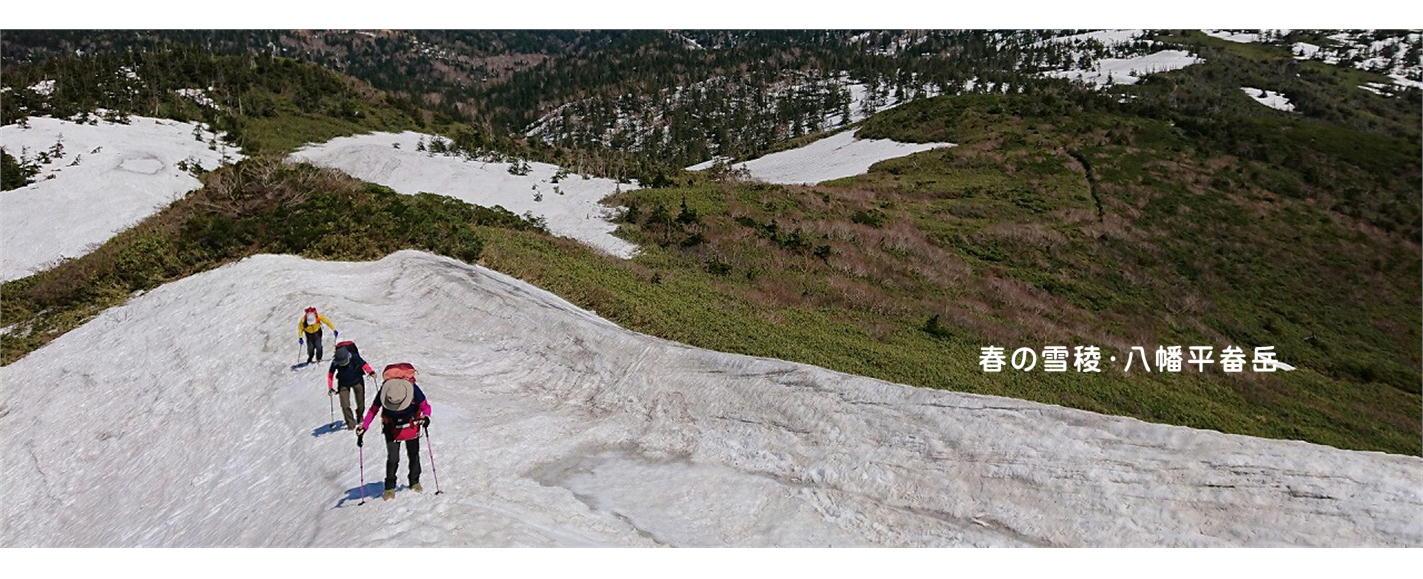 春の雪稜・八幡平畚岳